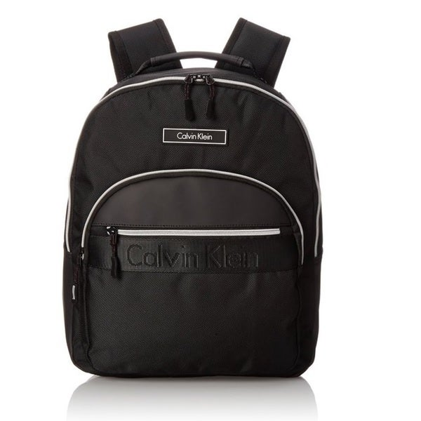 Calvin Klein Nylon Black/Silver Zip Backpack