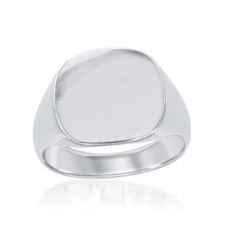 La Preciosa Sterling Silver Cushion Signet Ring