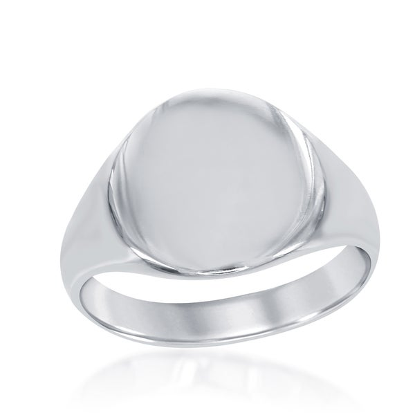 La Preciosa Sterling Silver Circle Signet Ring
