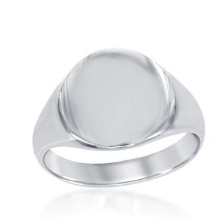 La Preciosa Sterling Silver Circle Signet Ring