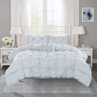Madison Park Maxine Seafoam Cotton Duvet Cover Set