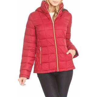 Michael Michael Kors Red/ Brown Packable Coat (Size XL)