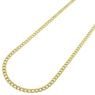 10k Gold 2.5mm Hollow Cuban Curb Link Necklace
