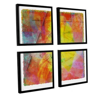 Joost Hogervorst 'Abstract Soft Smooth 2' 4-piece Floater Framed Canvas Sqare Set