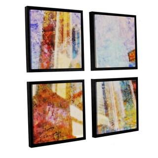 Joost Hogervorst 'City Collage - New York 1' 4-piece Floater Framed Canvas Sqare Set