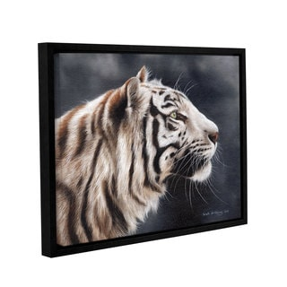 Sarah Stribbling 'White Tiger Head' Gallery Wrapped Floater-framed Canvas