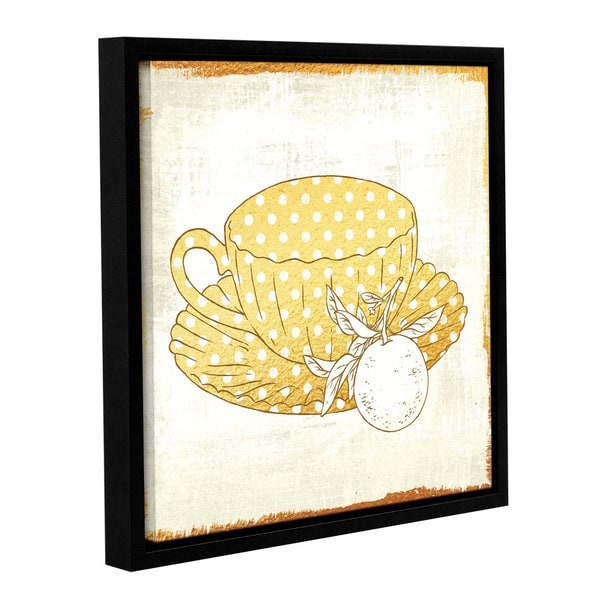 Cleonique Hilsaca 'Earl Grey Tea' Gallery Wrapped Floater-framed Canvas 18203186