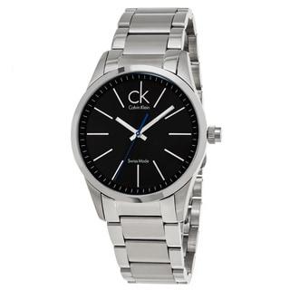 Calvin Klein Men's K2241102 'Bold' Black Dial Stainless Steel Swiss Quartz Watch