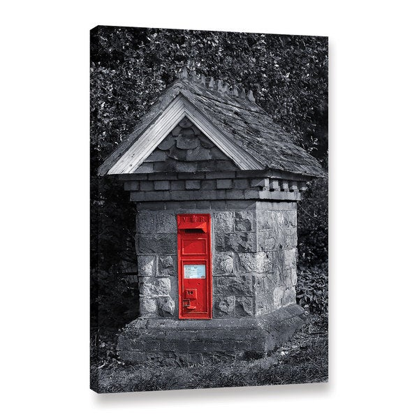 Simon Kayne 'Red Post Box' Gallery Wrapped Canvas