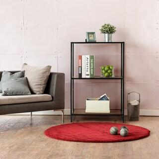 Priage Steel Wood 3 Shelf Bookcase