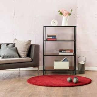 Priage Steel Wood 4 Shelf Bookcase