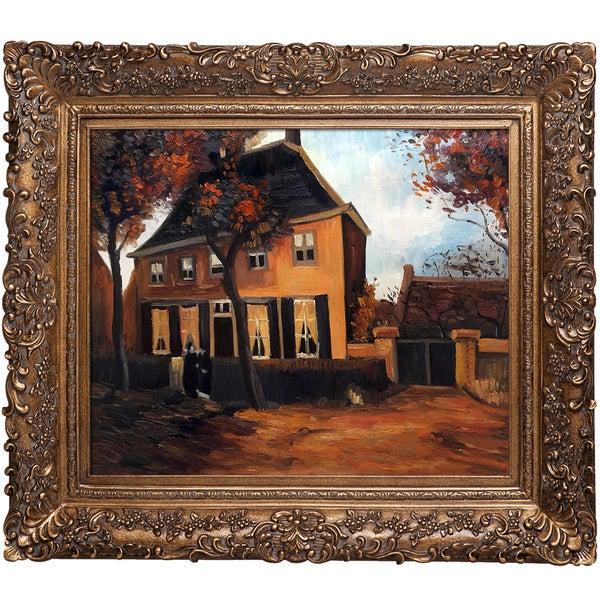 Vincent Van Gogh 'The Vicarage at Nuenen' Hand Painted Framed Canvas Art
