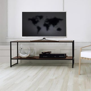 Priage Steel Wood TV Media Stand Table