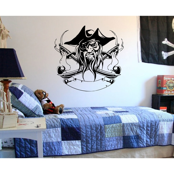 Pirate robber weapons Wall Art Sticker Decal