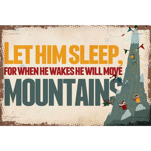 Marmont Hill 'Let Him Sleep' by Curtis Painting Print on Canvas