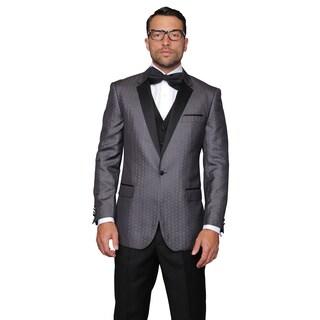 Modena Men's Sharcoal Statement Suit Tuxedo