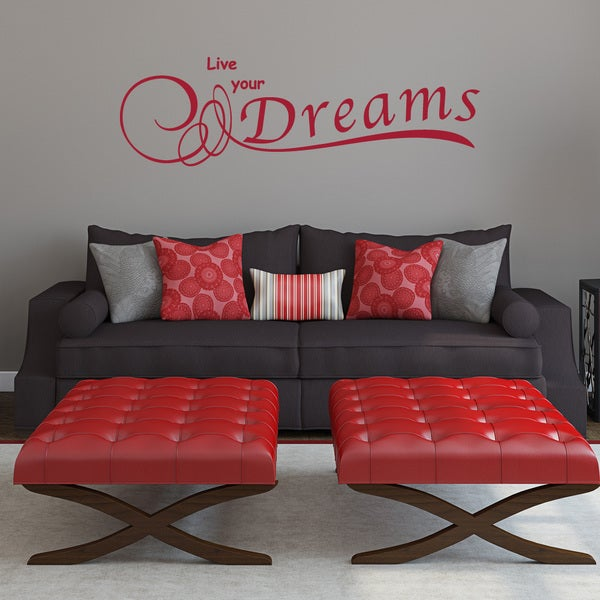 Live Your Dreams Wall Decal Vinyl Art Home Decor Quotes and Sayings
