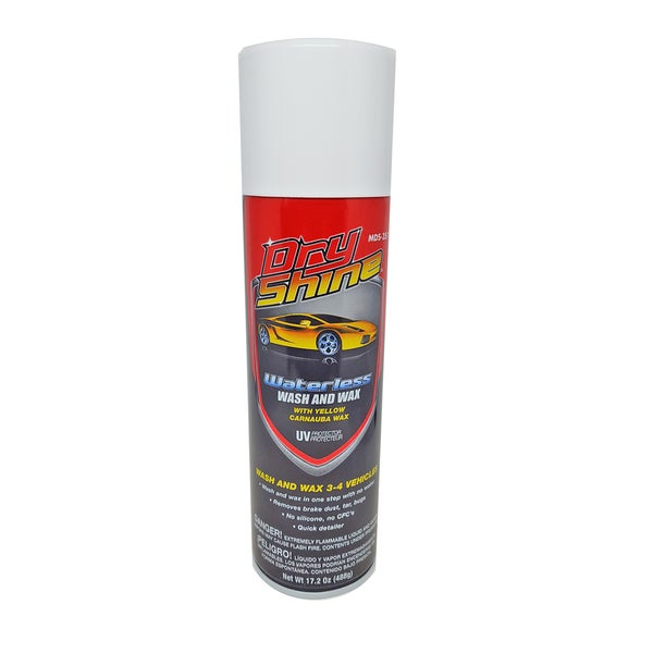 Dry Shine Waterless Car Wash and Wax with Super Microfiber Towel