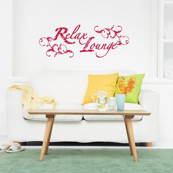 Relax Lounge Wall Decal Vinyl Art Home Decor