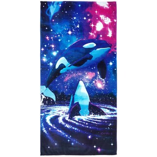 Royce Kaufman Space Orcas Printed Beach Towel (Set of 2)