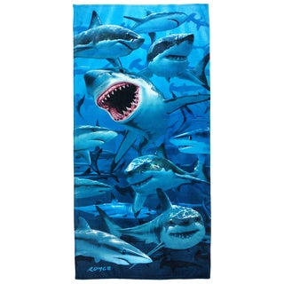 Royce Kaufman Hungry Sharks Printed Beach Towels (Set of 2)