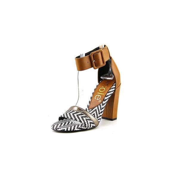 Nicole Women's 'Barri' White Leather Sandals