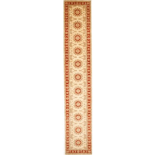 Hand-knotted with Agra Design Runner Rug (2' 6 x 14')