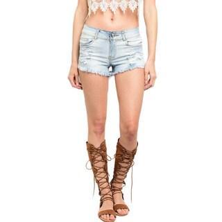 Shop the Trends Women's Denim Distressed Cutoff Shorts