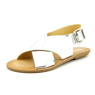 Dirty Laundry Women's 'Beatbox' Silver Leather Sandals