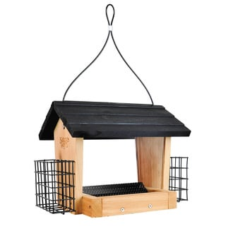 Cedar 3 Quart Hopper Feeder with Suet