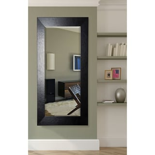 American Made Rayne 31 x 71.5-inch Black Wide Leather Extra Tall Mirror