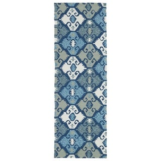 Seaside Blue Nomad Indoor/Outdoor Rug (2'6 x 8'0)
