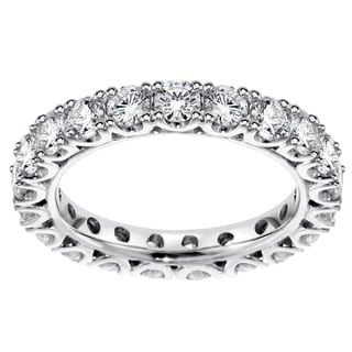 Platinum 1 1/2 - 1.85ct TDW Diamond Eternity Wedding Band (G-H, SI1-SI2)
