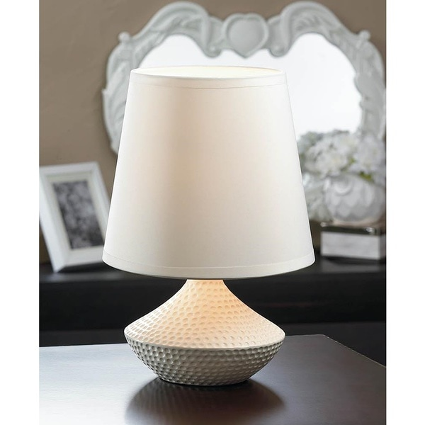 Lillian Dimpled White Table Lamp