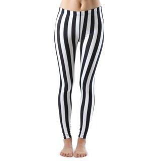 Jailbird Black And White Stripe Ankle Leggings