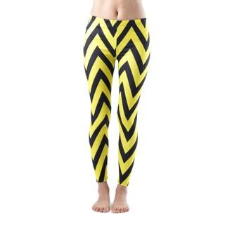 Juniors' Ankle Length Chevron Yellow Leggings