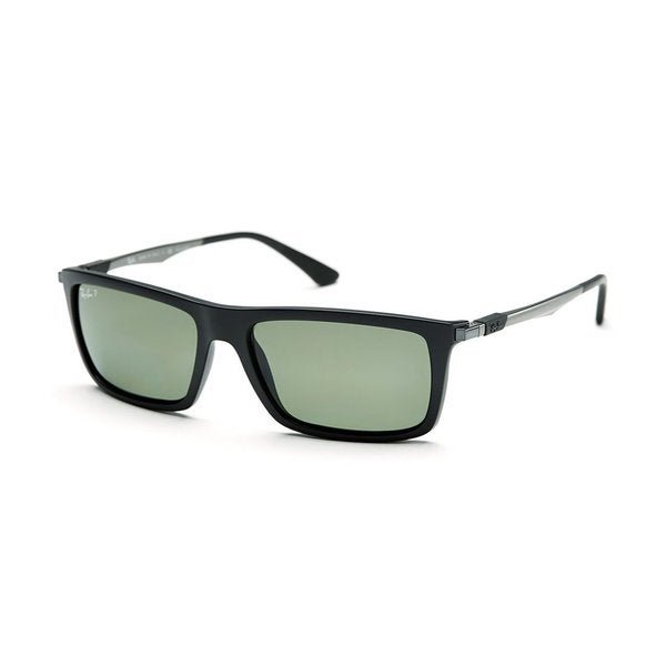 Ray-Ban RB4214 601S9A 59mm Polarized Green Classic Lenses Black/Gunmetal Frame Sunglasses
