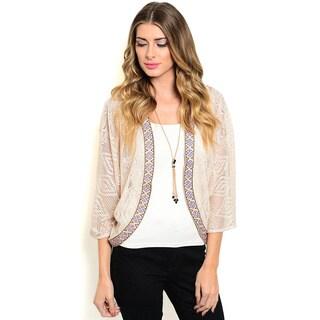 Shop the Trends Women's 3/4 Sleeve Lightweight Sheer Kimono Cardigan
