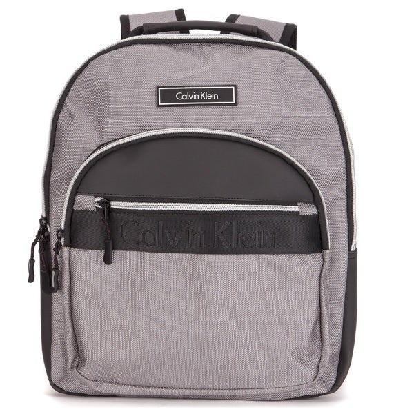 Calvin Klein Grey Nylon Zip Backpack