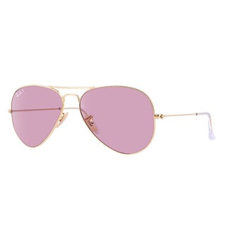 Ray-Ban RB3025 001/15 Aviator Classic Gold Frame Polarized Pink 58mm Lens Sunglasses