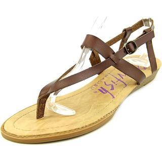 Blowfish Women's 'Berg' Faux Brown Leather Sandals