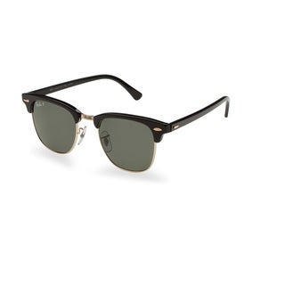 Ray-Ban RB3016 901/58 Clubmaster Classic Black Frame Polarized Green Classic 49mm Lens Sunglasses