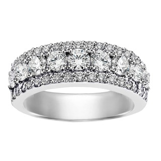Platinum 2ct TDW Round Diamond Wedding Band