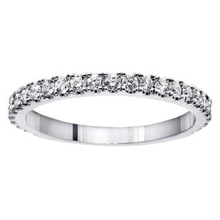 Platinum 5/8ct TDW Round-cut Diamond Wedding Band (G-H, SI1-SI2)