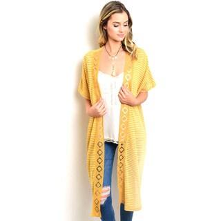 Shop the Trends Women's Short Sleeve Kimono Cardigan