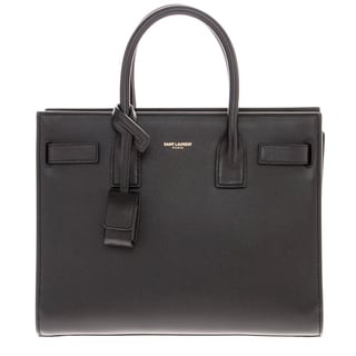 Saint Laurent Baby Sac De Jour Black Leather Tote
