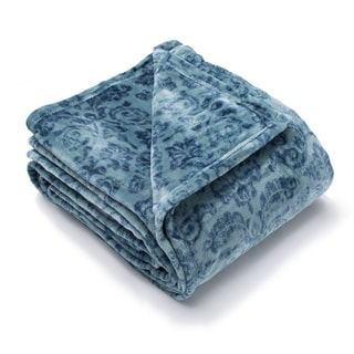 Home Fashion Designs Katrina Collection Fleur Plush Lightweight Luxury Blanket