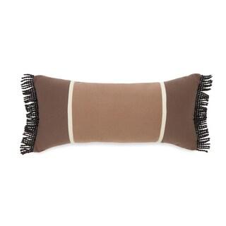 True Timber Pieced Stripe Brown Decorative Throw Pillow