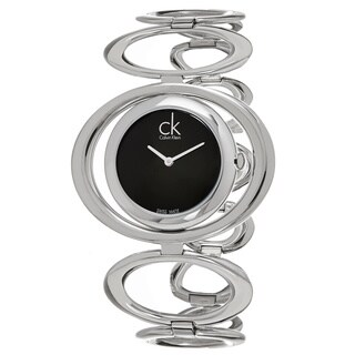 Calvin Klein Women's K1P23102 'Graceful' Black Dial Stainless Steel Swiss Quartz Watch