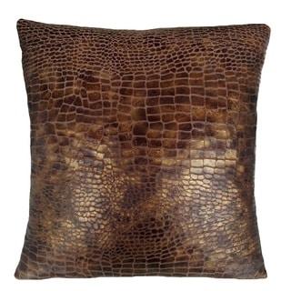 Fashion Street Croc Skin 16-inch Square Deco Throw Pillows (Set of 2)